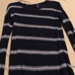 Navy blue striped long sleeve